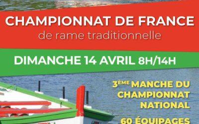 Troisième manche du championnat national de rame traditionnelle à Sérignan